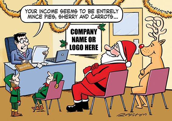 Festive Finances Front Personalised Personalised Charity Christmas Card