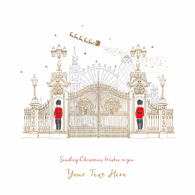 London at Christmas Front Personalised Personalised Charity Christmas Card