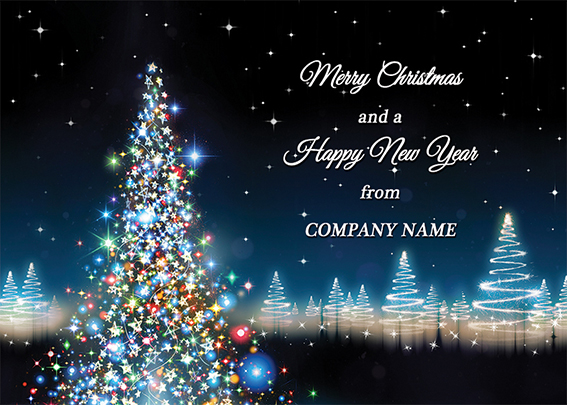 Magical Lights Front Personalised Personalised Charity Christmas Card