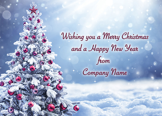 Radiance Front Personalised Personalised Charity Christmas Card