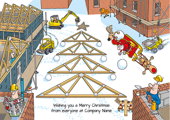 Santa's Site Front Personalised Personalised Charity Christmas Card