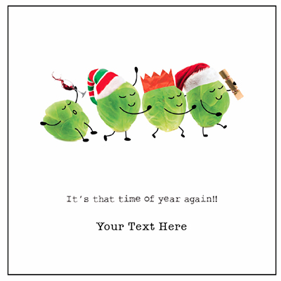 Sprout Congo Front Personalised Personalised Charity Christmas Card