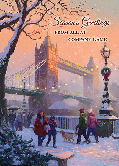 Tower Bridge Front Personalised Personalised Charity Christmas Card
