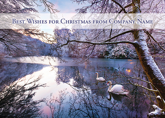 Winter on the Lake Front Personalised Personalised Charity Christmas Card