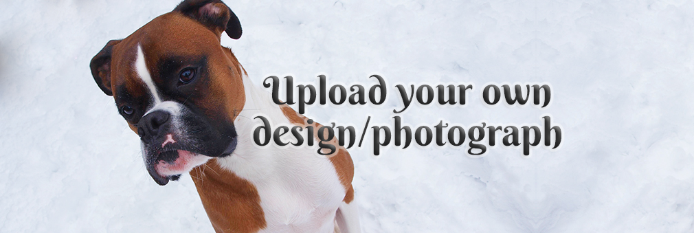 Use your own design/photograph