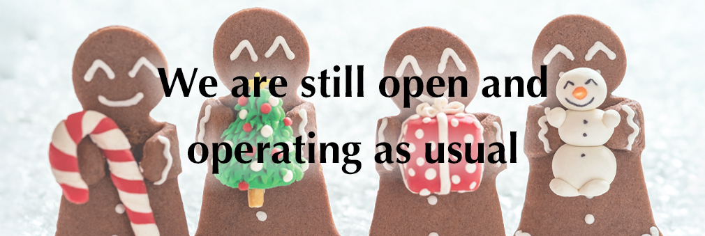 We are still open and operating as usual