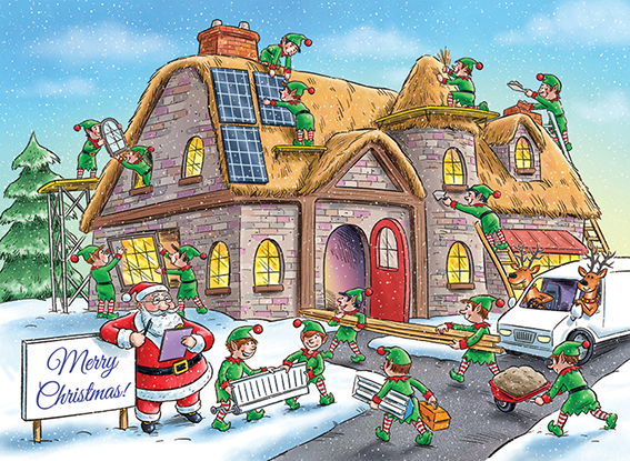 Festive Construction Personalised Charity Christmas Card