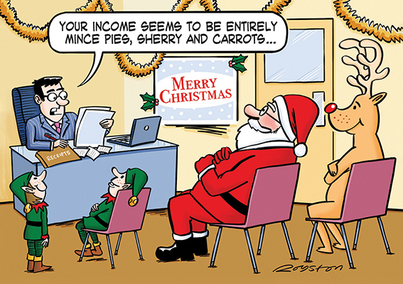 Festive Finances Personalised Charity Christmas Card