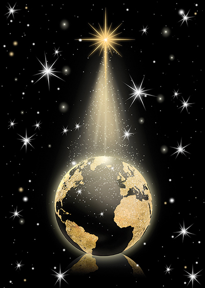 Golden Globe Personalised Charity Christmas Card