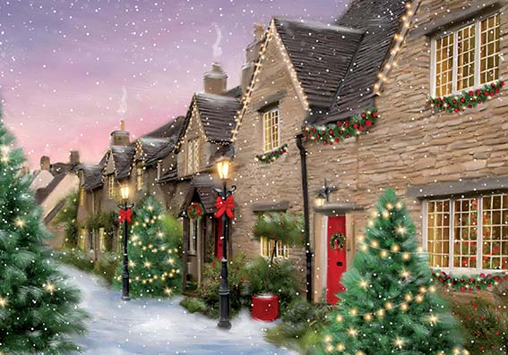 Holiday Street Personalised Charity Christmas Card