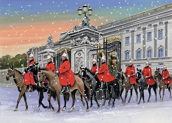 Horse Guards at Buckingham Palace Personalised Charity Christmas Card