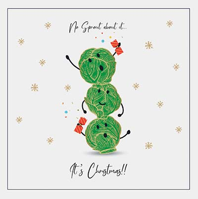No Sprout About It Personalised Charity Christmas Card