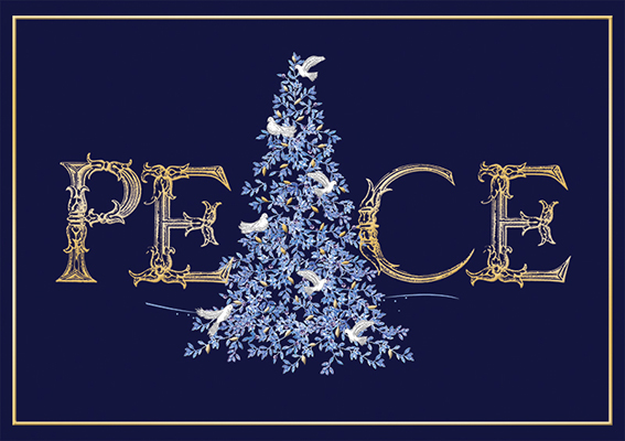 Peace Personalised Charity Christmas Card