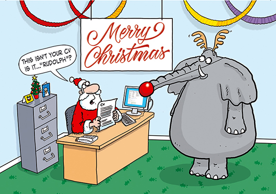 Santa's New Recruit Personalised Charity Christmas Card