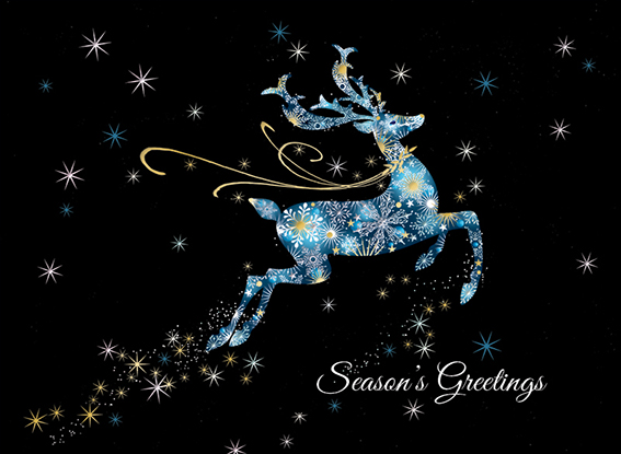 Silver Sky Personalised Charity Christmas Card