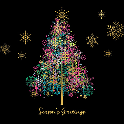 Sparkle Tree Personalised Charity Christmas Card