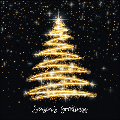 Sparkling Tree Personalised Charity Christmas Card