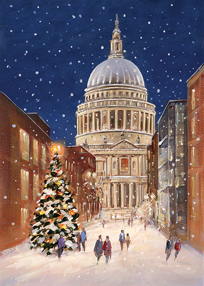 St Paul's Cathedral, Christmas Eve Personalised Charity Christmas Card