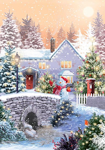 The House in the Woods Personalised Charity Christmas Card