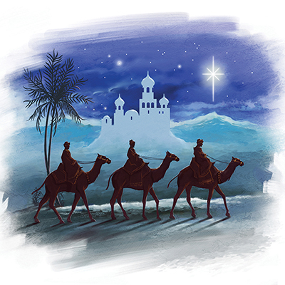 The Three Wise Men Personalised Charity Christmas Card