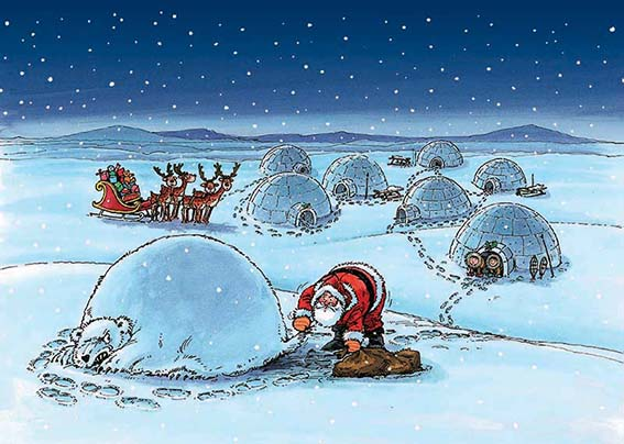 Under the Igloo Personalised Charity Christmas Card