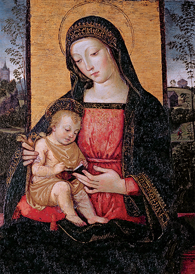 Virgin and Child Personalised Charity Christmas Card
