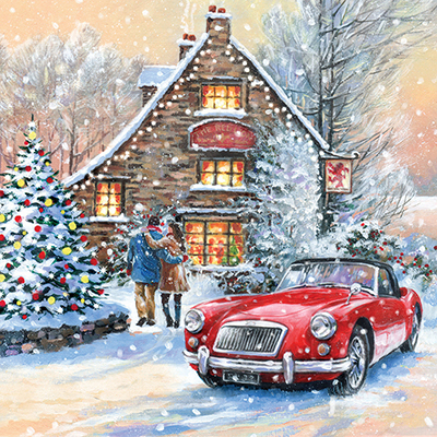 Winter Evening Personalised Charity Christmas Card