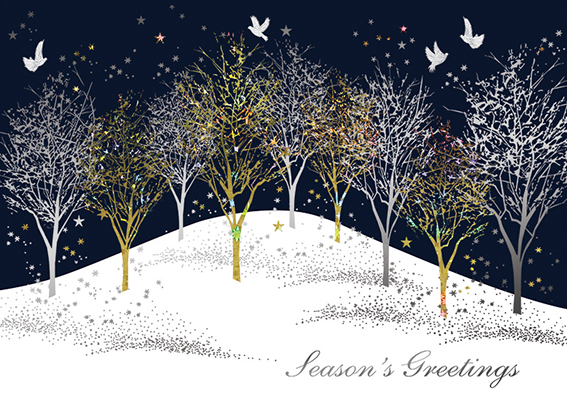 Winter Forest Personalised Charity Christmas Card