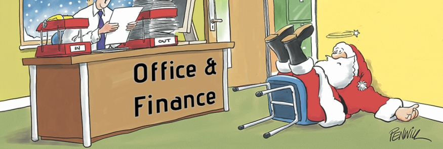 Office & Finance Themed Personalised Christmas Cards