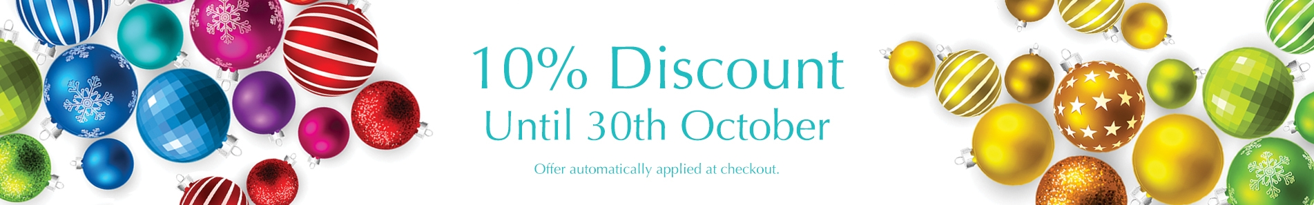 10% discount ends 30th October