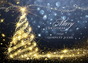 Christmas Sparkle Front Personalised Card