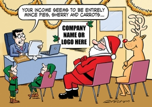 Festive Finances Front Personalised Card