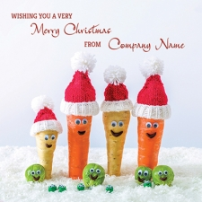 Merry Veg-Mas! Front Personalised Card