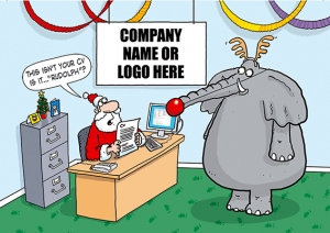 Santa's New Recruit Front Personalised Card
