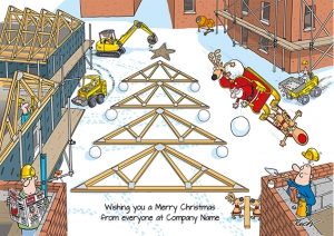 Santa's Site Front Personalised Card