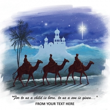 The Three Wise Men Front Personalised Card