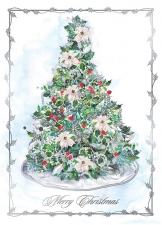 Silver Decorations Card