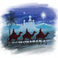 The Three Wise Men Card