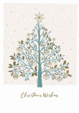 Tree and Gold Baubles Card