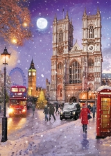 Westminster Abbey in the Snow Card